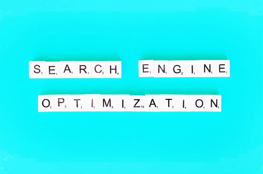 Scrabble board pieces spelling Search Engine Optimization