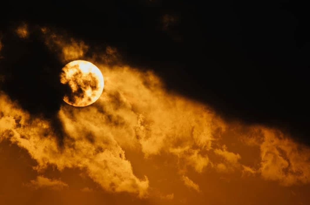 Springboard Website Designs scary orange moon