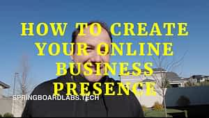 Man talking about How to create an online presence for your business