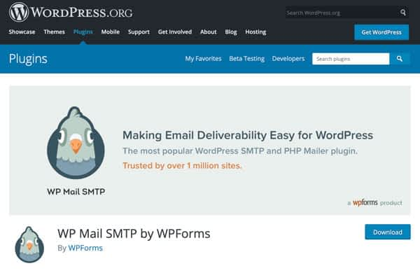 Download the WP Mail SMTP by WPForms plugin to fix your Woocommerce email error notifications in Gmail
