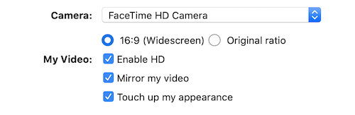 Zoom meeting tips settings for Touch Up My Appearance