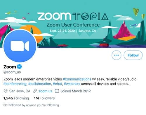 Zoom meeting tips twitter cover page for Zoom