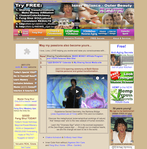 Example of a out of date website design