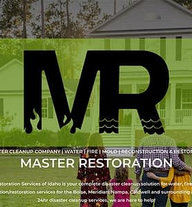 Screenshot of the Master Restoration.com homepage
