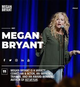 Website Design Meet Megan Bryant home page
