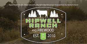 Screen shot of the Hipwell Ranch.com homepage