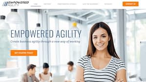 Empowered Agility Screen Shot of Homepage