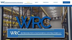 Screenshot of the WRC Contractors.com homepage
