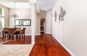 Real estate photography sample of an inside home entry way