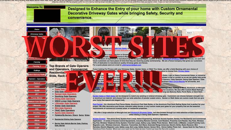 Top 5 Worst Website Design Fails EVER